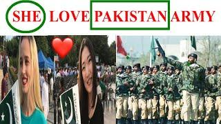Foreign girls love ❤️ Pakistan army ????