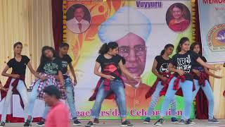 Sri Viswasanthi School Teacher's day Celebrations Class 9 girls Dance