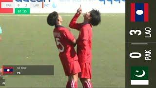 Laos U-16 VS Pakistan U-16 Women's 3-0 AFC 2019 Championship Qualifiers Full Match Highlights