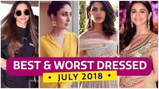 Deepika Padukone, Priyanka Chopra, Alia Bhatt: Best & Worst Dressed July 2018 | Fashion | Pinkvilla