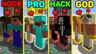 Minecraft NOOB vs PRO vs HACKER vs GOD : LOVE GIRL BATTLE Challenge in Minecraft (Animation)