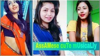 Cute romantic Assamese girl on tiktok musically video || by xengo