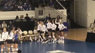 Kentucky volleyball girls dance to the music during a review (December 1st, 2018)