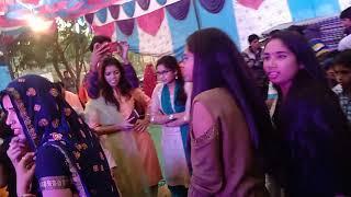 Meena girls dance in Devta pink city