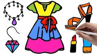 Baby Girl Play Coloring Game Dress and Accessories