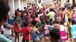 Girls dance on Krishna's birthday