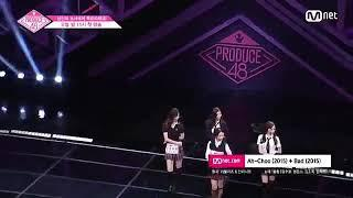 "180615 Woollim girls trainee dance ""Lovelyz AhChoo, Infinite Bad"" in Produce48 ep1 cut"