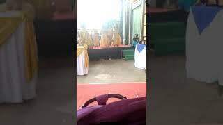Funny girls dance dangdut at wedding party