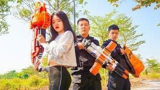 Nerf War: Special S.W.A.T Nerf Guns Enemy Bandits Group Revenge Love Girl Nerf Movie
