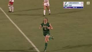 2018 Women's Soccer Highlights - #25 USF 2, Cincinnati 1