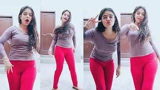 """Girl in Red Looking Awesome """" Girl dance On Tiktok """""""