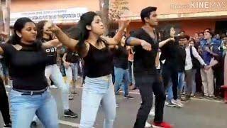 Sjce,flashmob, Mysore. dance by boys and girls #dance#bollywood#mysore#karnataka