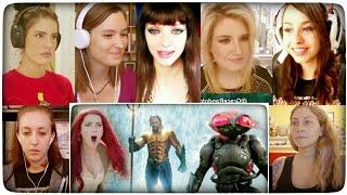 AQUAMAN - Extended Video - Girls Reactions Mashup | Aquaman New Trailer Reaction | Aquaman 2018