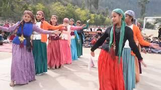 Pahari girls dance in school function
