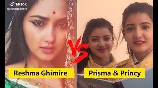 Reshma Ghimire Vs Twinny Girls (Prisma & Princy) Musically Tiktok Video / Musically Nepal