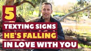 5 Texting Signs He's Falling In Love With You | Relationship Advice for Women by Mat Boggs