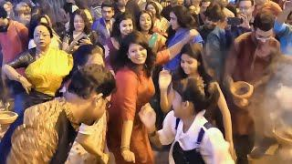 DURGA PUJA DANCE 2019   GIRLS DANCE TO THE BEAT OF THE DHAK AT DURGA PUJA   BENGALI DANCE DURGA PUJA