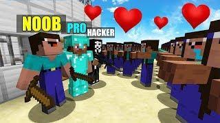 Minecraft Battle: NOOB vs PRO vs HACKER : LOVE GIRL APOCALYPSE Challenge in Minecraft