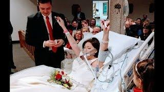 Woman With Cancer Gets Married In Hospital. 18 Hrs Later New Husband Looks Over And Gasps