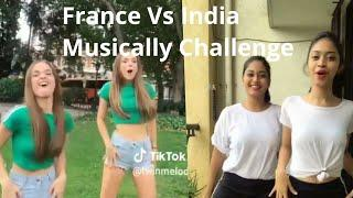 Musically Challenge India Vs France Girls Dance Oh Nanana Challenge