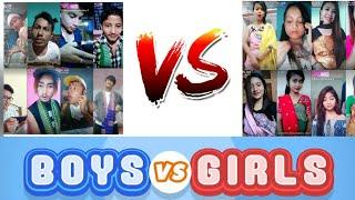 BODO Boys VS BODO Girls  || New like app video 2018 || Bodo video 2018