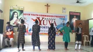 Christian Devotional Dance || Nagpuri Song || Girls Dance || 2k19 || Yuva Mela