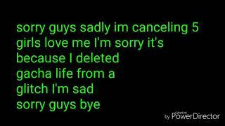 Canceling 5 girls love me