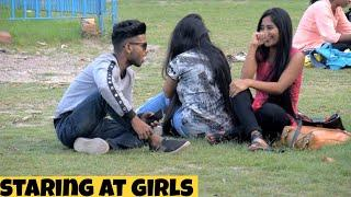 STARING PRANK AT HOT GIRLS || GONE WRONG - PRANK IN INDIA || BY - MOUZ PRANK