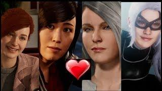 Spider Man Ps4 - Why Do All The Girls Love Spider Man - (Black cat, silver sable,Mary Jane, Yuri)
