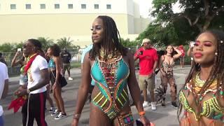 MIAMI WEST INDIAN CARNIVAL 2018 - CARIBBEAN ISLANDS GIRLS MUSIC DANCE PARTY AT MIAMI CARNIVAL