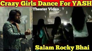 Crazy Girls Dancing For Rocking Star YASH and Enjoy Film Cinema Hall Video