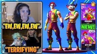 Girls SCARED of *NEW* Clown Skins On Fortnite! (Ninja & STREAMERS REACT) Fortnite BR