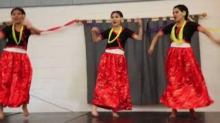 Girls group dance in Nepali mashup: Old Nepali movie songs (Sanskritik Sanjh 2018)