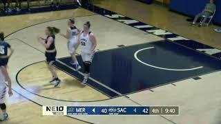 HIGHLIGHTS: Women's Basketball 60, Merrimack 50