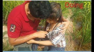 Sweet Boy & Girl At Filed Morning | Short Film In Morning What They Are Doing At Beautiful Field