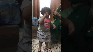 Cute little girl dancing.  On dil chori  sadda hogaya  very cute