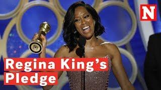 Regina King Vows To Produce Films With 50 Percent Women After First Golden Globe Win