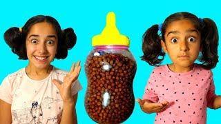 Esma and Asya little girls  pretend play fun kid video
