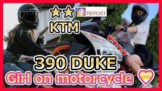 Moto girls【KTM 390Duke】motorcycle girl  ❘❘Cool Girl! I Love  ! EP 70
