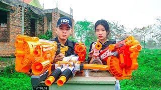 Nerf War: Special Agents FBI Gunfight Mysterious Bandits Group Revenge Girl Love Nerf Movie