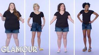 Women Sizes 0 Through 26 Try on the Same Pair of Jean Shorts | Glamour