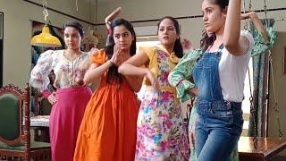 Girls preparing Dance for College function exclusive video