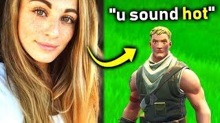 I Pretended To Be A GIRL In Fortnite