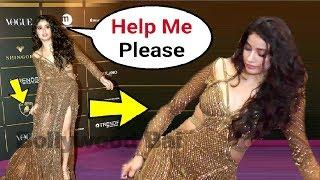 Jhanvi Kapoor Almost Fall At Vogue Women Of The Year Awards 2018
