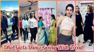 Dhol Dance Challenge Going With The Trend   Musically Indian Girls Dance Video   Viral Fun Ka Pitara