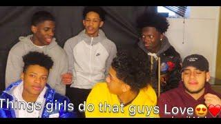 Things Girls do that Guys LOVE????| HIGH SCHOOL BOYS EDITION‼️