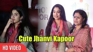 "Cute Jhanvi Kapoor At Maitreyi Foundation "" Women With A Difference"""