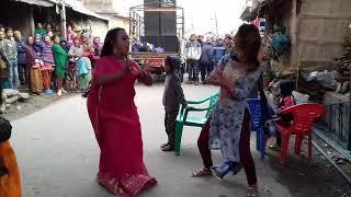 Tharu wedding girls Dance at Majhuee Chitwan with bhojpuri songs