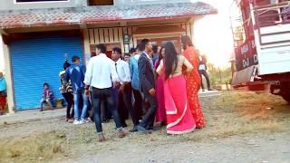 Tharu girls and boys dance compliance at wedding ceremony Nawalpur