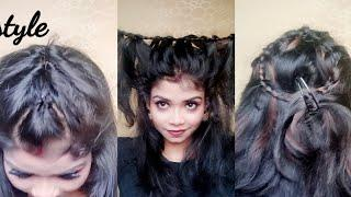 Three quick n easy Hairstyles for girls for Diwali||makeup for love n desire ||